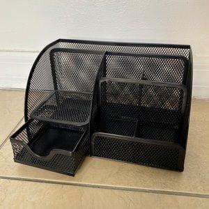 Mesh Desk Organizer - Black